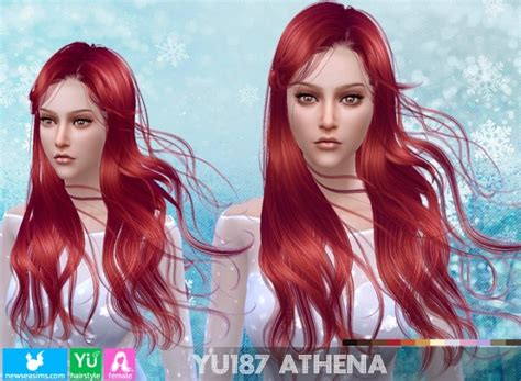 athena hairstyle yu187 athena hair pay at newsea sims 4 187 sims 4 updates