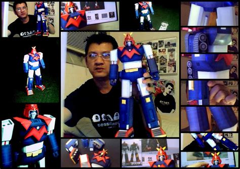 Voltes V Papercraft - voltes v classic japanese robot papercraft by edontuazon
