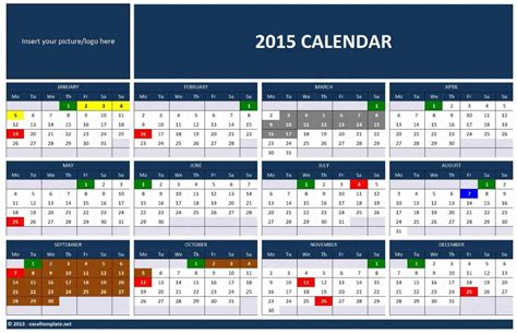 2015 Calendar Templates Microsoft And Open Office Templates Microsoft Word 2015 Calendar Template