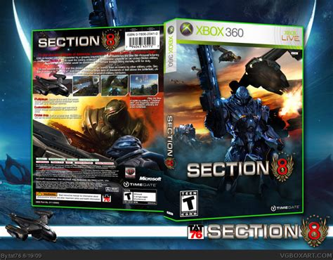 section 8 xbox 360 section 8 xbox 360 box art cover by tat76