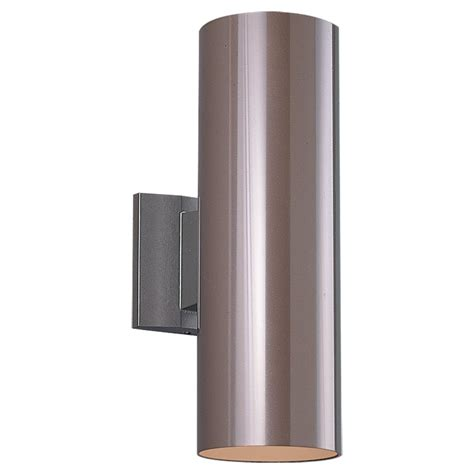 Exterior Wall Sconce Sea Gull Lighting 8340 Bronze Contemporary Outdoor Cylinder Wall Sconce Sg 8340