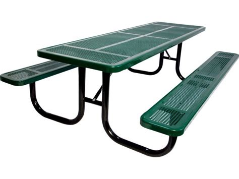 6 heavy duty perforated picnic table upt 7230