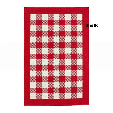 Music Note Home Decor Ikea Millinge Checked Rug Area Throw Door Mat Low Pile Red