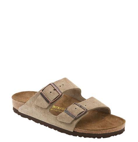 birkenstock arizona sandal birkenstock arizona sandal in brown taupe suede lyst