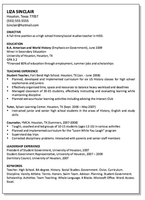 social studies teacher resume exle resumes design