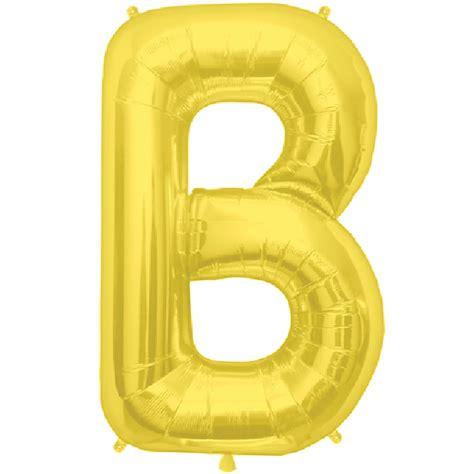 Gold Foil Balloon B gold letter b 16 inch foil balloon