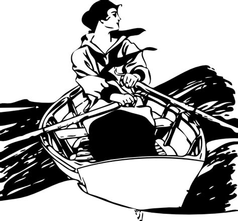 cool boat clipart girl in rowboat clip art at clker vector clip art