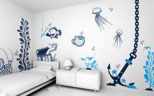bedroom decorative wall painting designs for
