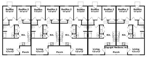4 plex apartment plans apartment plan with 5 units j748 5 plansource inc