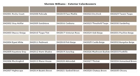 sherwin williams sandstone paint colors exterior