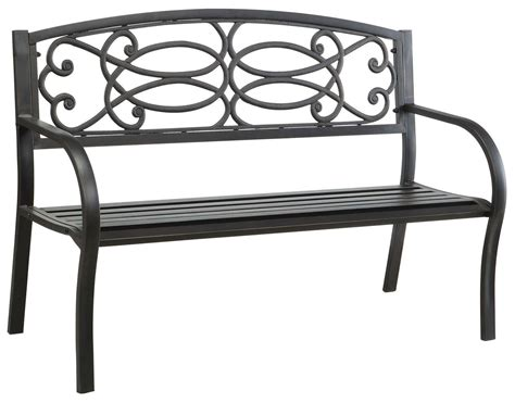 potter bench potter steel park bench from furniture of america cm