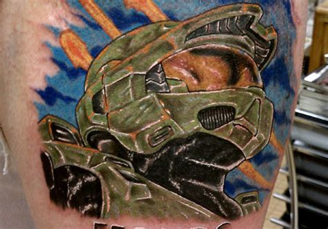 halo tattoo designs 28 halo designs for videogamers creativefan