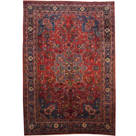 broyhill area rugs herat knotted 1960 s semi antique hamadan navy wool rug 7 9 x 11 2