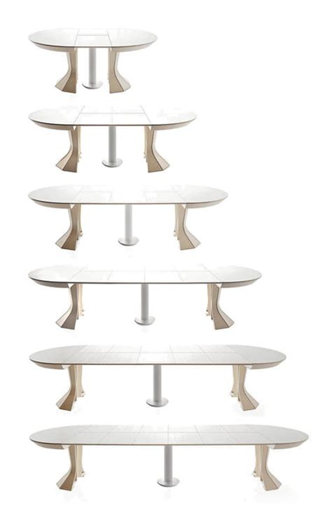 Round Expandable Dining Table Modern Opera By Bauline