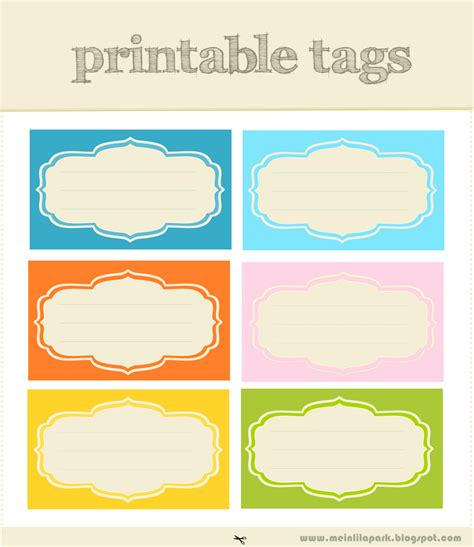 Printable Tags | free printable scrapbooking tags and digital journaling