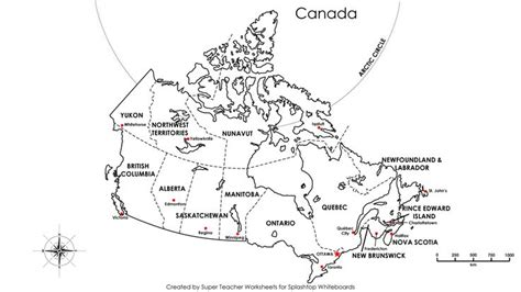 canadian map labeled canada map labeled
