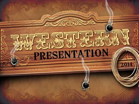western style powerpoint  template