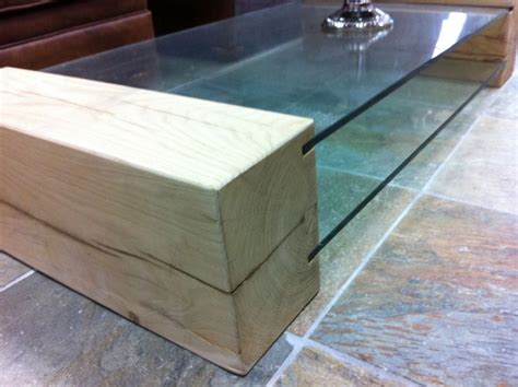 Oak Sleeper by Coffee Table Made From New Oak Railway Sleepers And