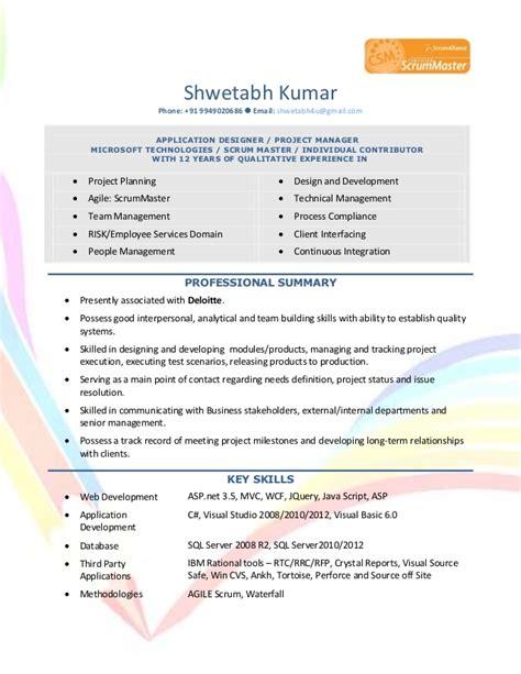 Resume Tips Deloitte Resume Of Shwetabh Kumar Project Manager At Deloitte