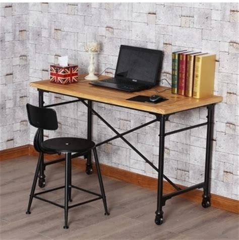 country style computer desks american country style wrought iron made vintage wood