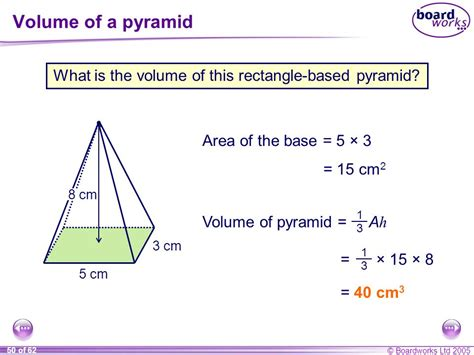 volume pyramid s10 length area and volume ppt
