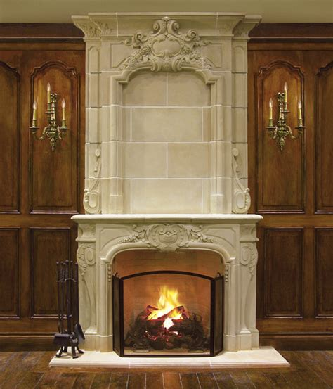 bourges mantel and overmantel traditional living room