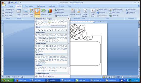 cara membuat undangan berbingkai di ms word belajar cetak blogspot comdesign undangan membuat