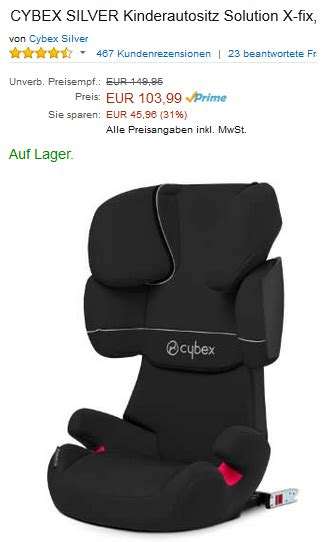Auto Kindersitz Solution X Fix Pure Black 2015 by Cybex Silver Kinderautositz Solution X Fix Billig