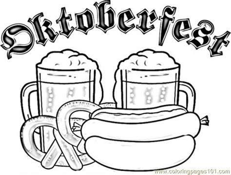 beer festival in munich coloring page free printable