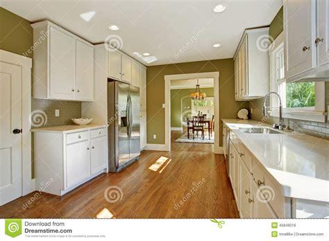 green white kitchen green kitchen room with white storage combination stock