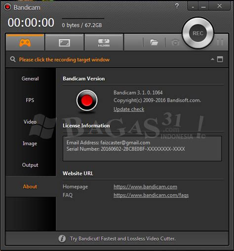 bandicam full version exe bandicam v3 1 0 full version galih977