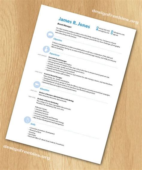 free indesign resume cv template 3 free indesign