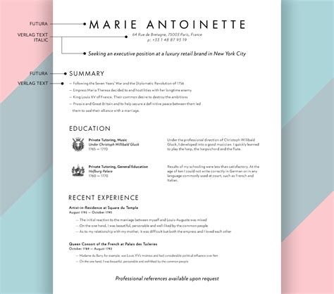 best resume typeface pictures inspiration exle resume
