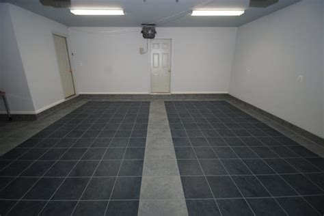 Garage Floor Tiles Ceramic by Luxury Tile Floor Installation In Garage