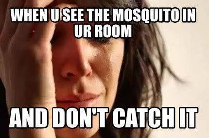 how to catch a mosquito in a room meme creator when u see the mosquito in ur room and don t catch it meme generator at