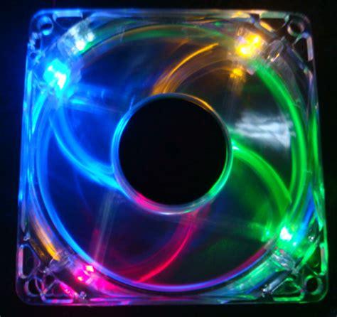 120mm rgb case fan lots 2 rgb quad 4 led light neon clear 120mm pc computer
