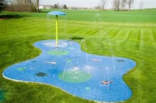 backyard splash pad residential splash pad for your backyard