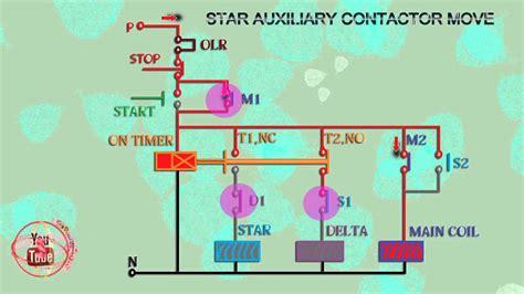 star delta starter control wiring diagram animation youtube