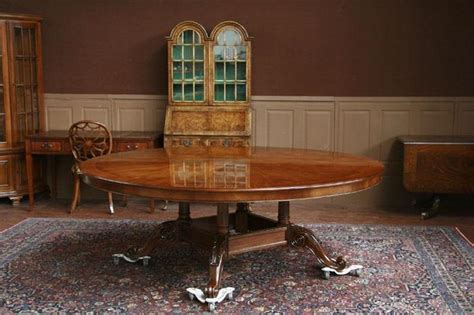 large high end mahogany dining table antique reproduction 84 quot high end large round mahogany dining table antique