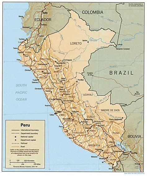 road map of peru large detailed relief and political map of peru peru