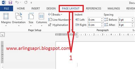 pengaturan page layout skripsi kumpulan proposal bahasa inggris dan tutorial komputer