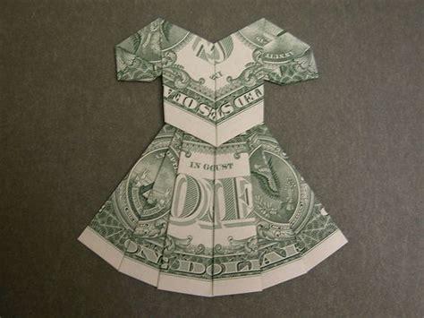 Dollar Bill Dress Origami - dollar bill dress crafts billets d un
