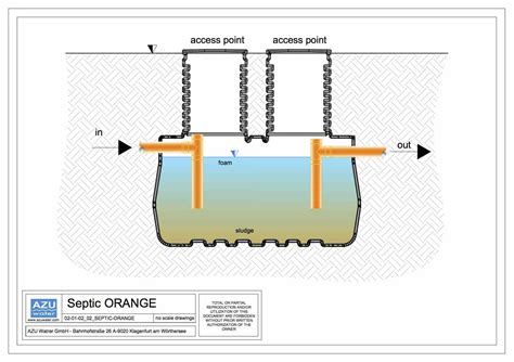 septic tank orange azu water