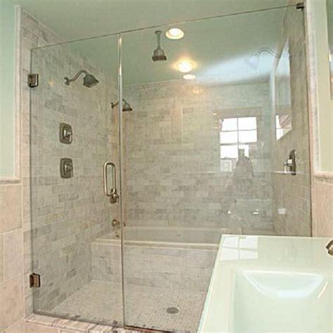 bathtub inside shower white carrara marble marble bath with a