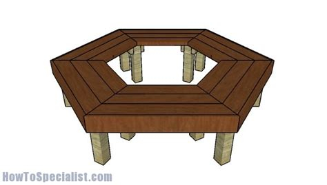 tree bench plans free wrap around tree bench plans howtospecialist how to