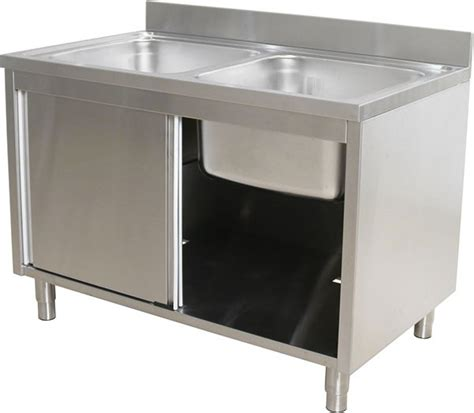 stainless steel sink base cabinet commercial double bowl kitchen sink base cabinet stainless