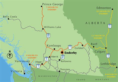 bc canada map maps enderby bc canada
