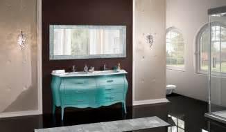 mobile per bagno mobile in legno bombato per bagno due lavabi arredo