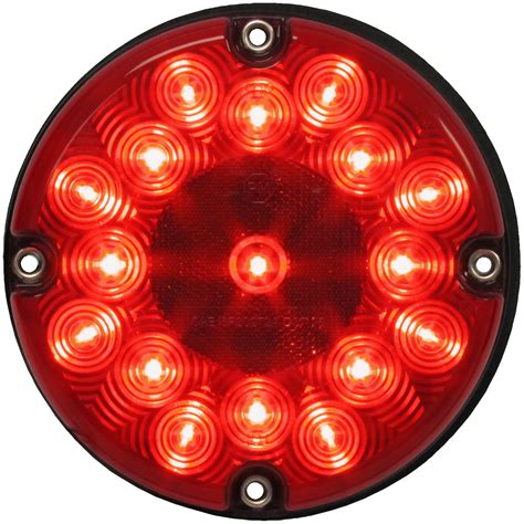 24 Volt Led Lights Pm 717r Red Led Bus Light 7 Bus Amp Transit Stop Turn Tail
