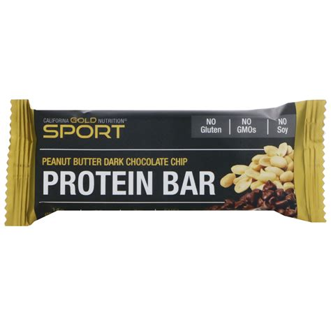 L Hi Protein Bar california gold nutrition protein bar peanut butter chocolate chip gluten free 2 1 oz